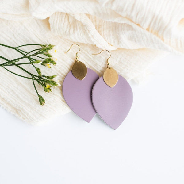 purple spring statement earrings sela designs