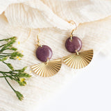 lavender modern small dangle earrings