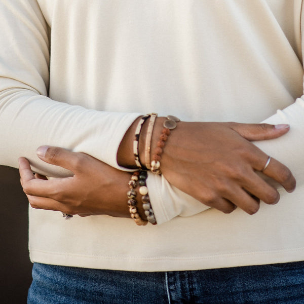 Gold Fleck Lexi Leather Bracelet