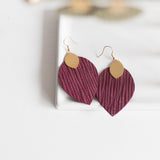 Maroon Cora Earrings