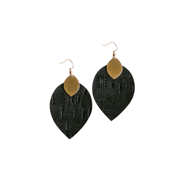 Matte Black Cora Earrings
