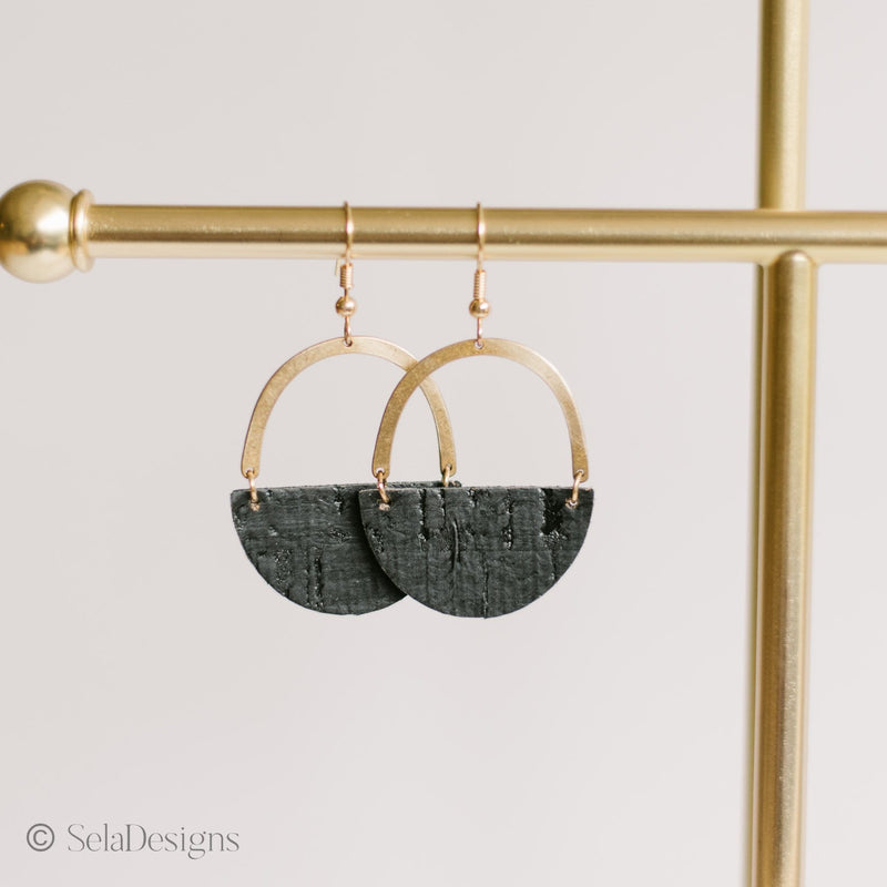 Matte Black Jo Earrings