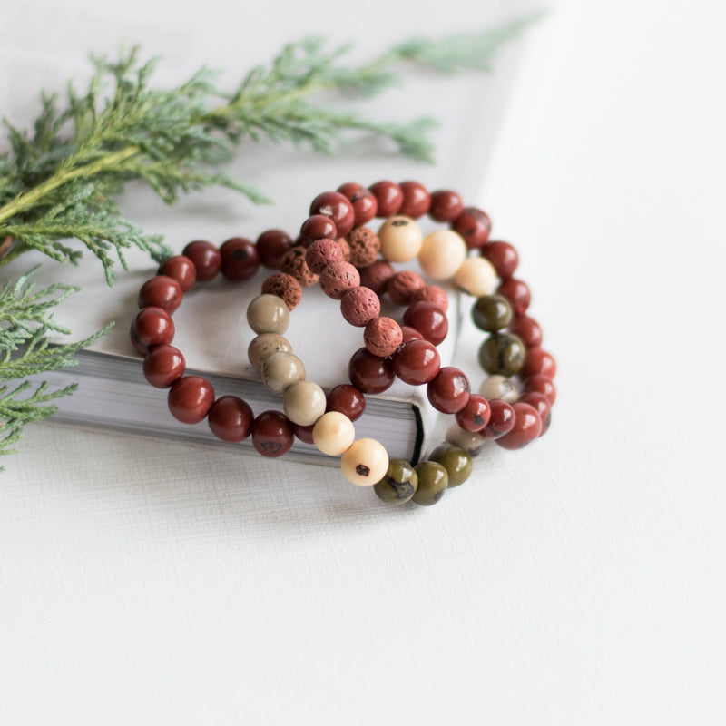 Red Brick Melody Diffuser Bracelet