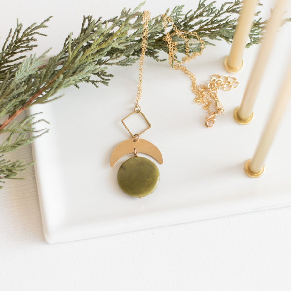 Olive Laurel Necklace