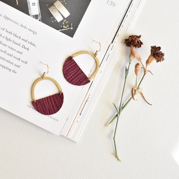 Maroon Jo Earrings