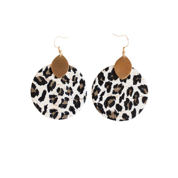 Snow Leopard Macy Earrings