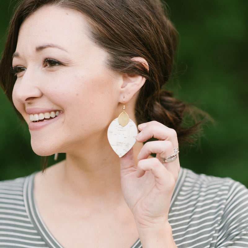 White Birch Cora Earrings