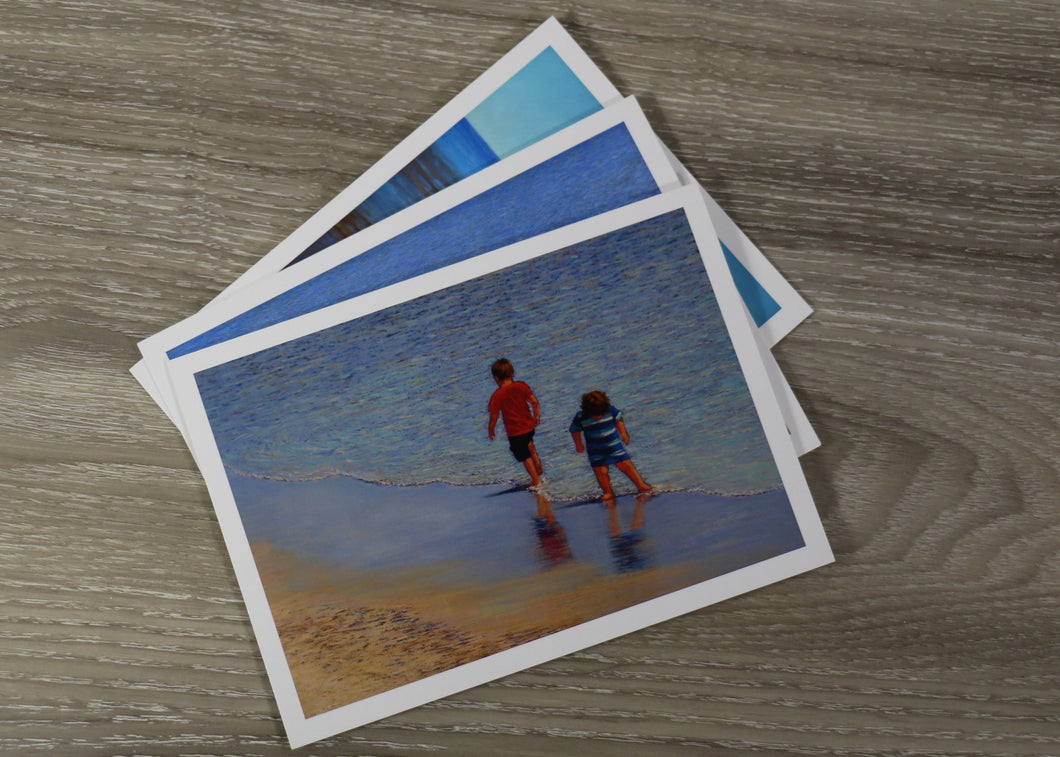 Set of Three cards & envelopes - Beach Series - Save!