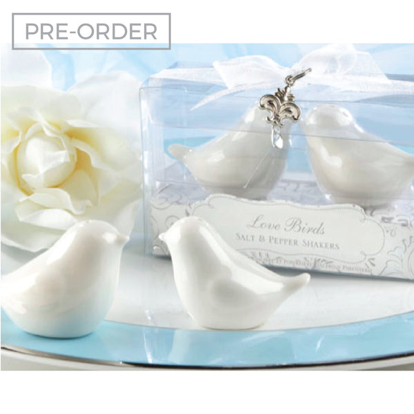 Love Birds - TRUE LOVE Salt & Pepper Shaker Wedding Favours