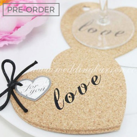 A Love Affair - Coaster Wedding Favours
