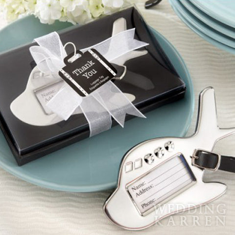 Airplane Luggage Tag Favours Door Gifts