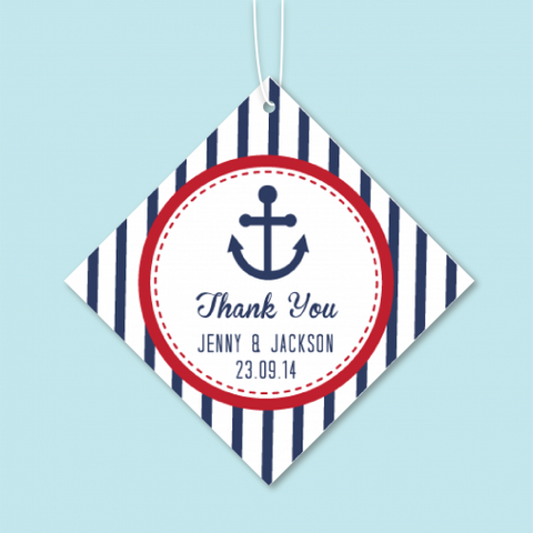 Anchor - Personalized Door Gifts Thank You Tag