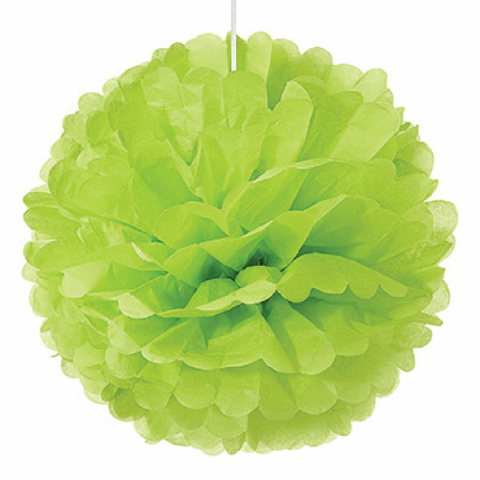 Apple Green Paper Pom Pom - Medium
