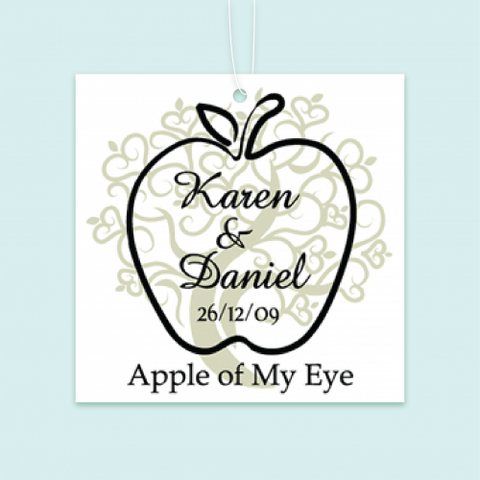 Apple of My Eye - Personalized Door Gifts Thank You Tag