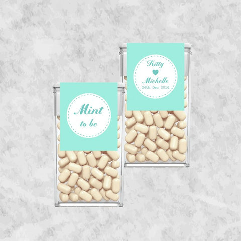 Aqua Personalized Tic Tac Door Gifts