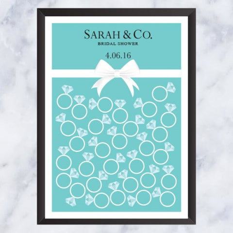 Aqua Theme - Bridal Shower Guestbook Alternative