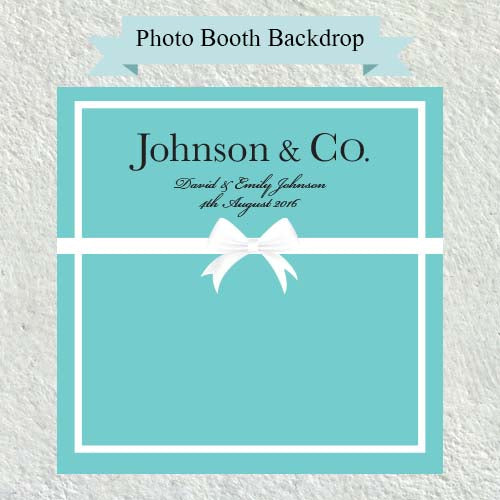 Aqua Theme - Bridal Shower Photo Booth Backdrop