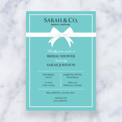 Aqua Theme - Invitation Card