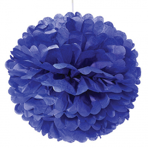 Aquamarine Blue Paper Pom Pom - Medium