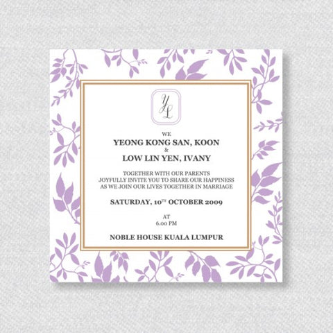 Autumn Leaf - Wedding Invitation Card