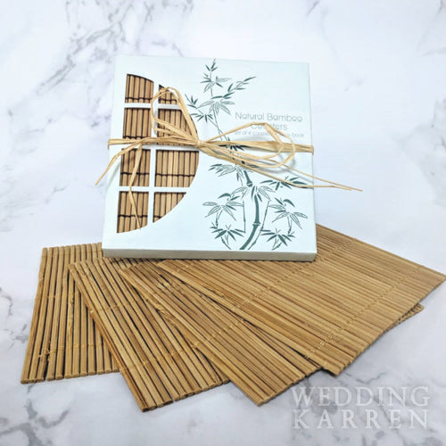 Bamboo Fibre- Natural Coaster Wedding Favours