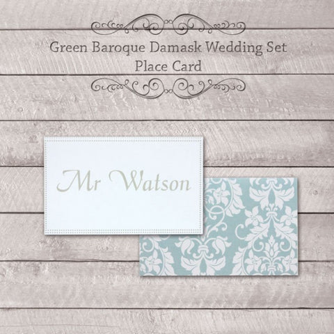 Baroque Damask - Wedding Place Card