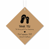 Beach Theme - Personalized Door Gifts Thank You Tag