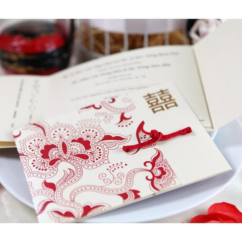 Beauty of the Far East - Wedding Invitation Card