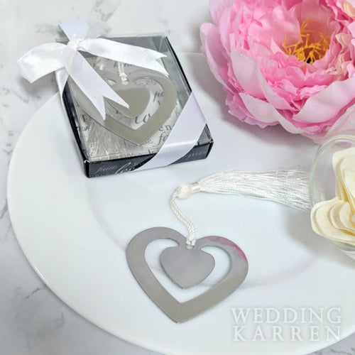 Blossoming Love - Bookmark Wedding Favours