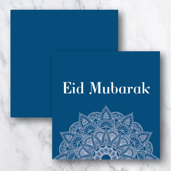 Blue Ornaments - Raya Collection Greeting Card