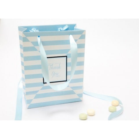 Blue Stripes - Door Gifts Paper Bag Packaging Favours