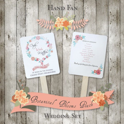 Botanical Bloom - Personalized Wedding Program Fan