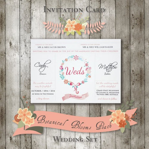 Botanical Bloom - Wedding Invitation Card