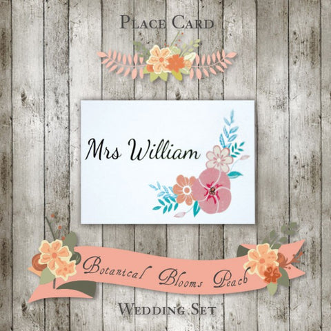 Botanical Bloom - Wedding Place Card