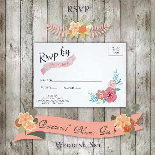 Botanical Bloom - Wedding RSVP Card