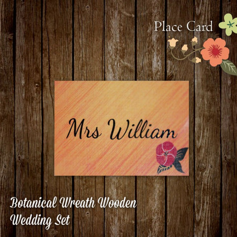 Botanical Wreath - Wedding Place Card