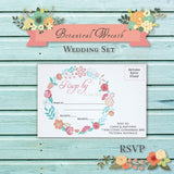 Botanical Wreath - Wedding RSVP Card
