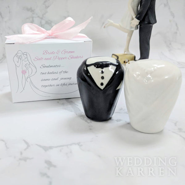 Bride & Groom - Salt & Pepper Shaker Wedding Favours