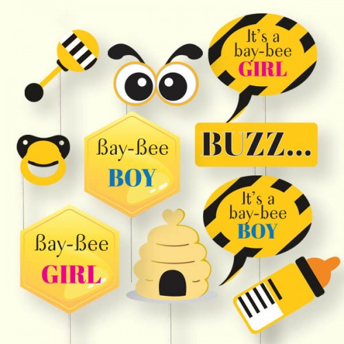 Bumble Bee Baby Shower Photo Booth Props Wedding Karren