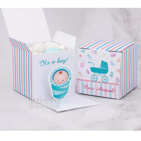 Bundle of Joy - BOY Baby Shower Favours Box