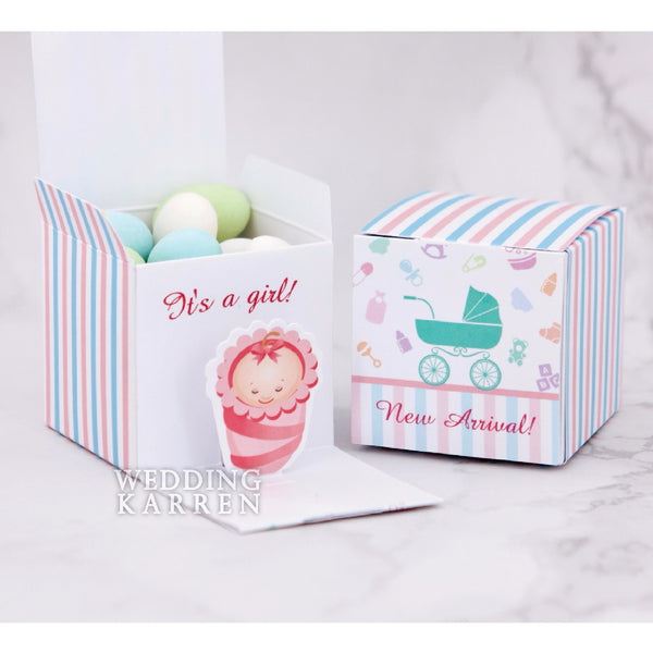 Bundle of Joy - GIRL Baby Shower Favours Box