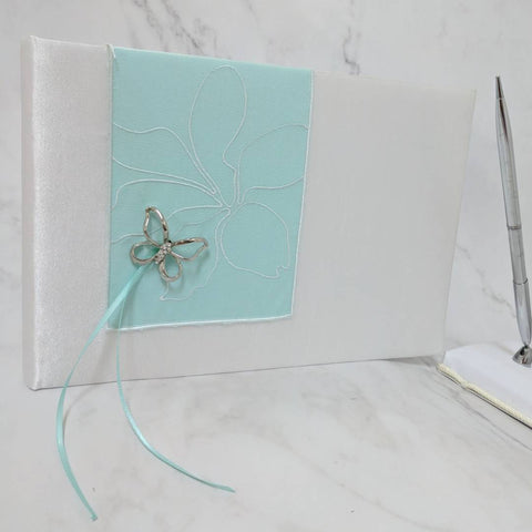 Butterfly Dream - BLUE Traditional Guestbook
