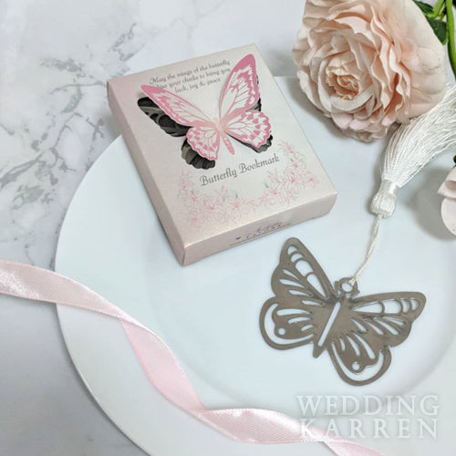 Butterfly Kisses - Bookmark Wedding Favours