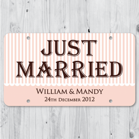 Canope - Just Married Personalized Car Plate