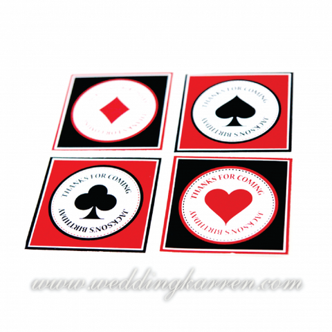 Casino Theme - Party Label Tag