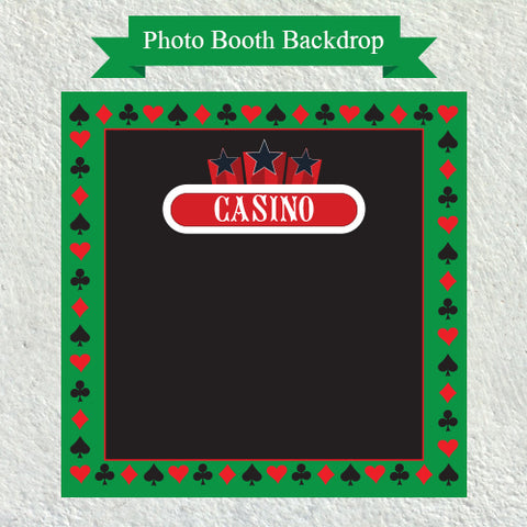 Casino Theme - Party Photo Booth Backdrop
