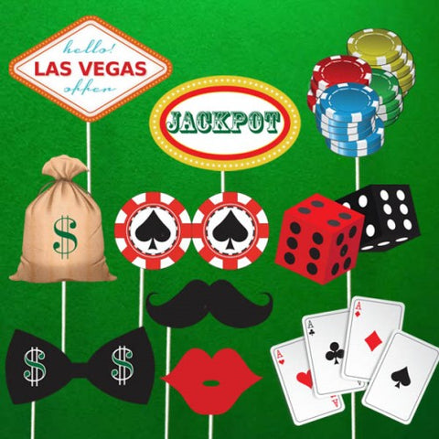 Casino Theme - Party Photo Booth Props
