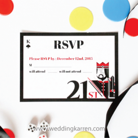 Casino Theme - RSVP Card