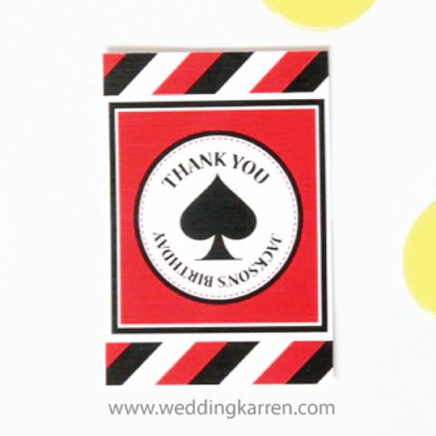 Casino Theme - Thank You Card