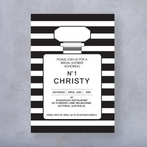 Chanel Inspired Theme Invitation Card Wedding Karren